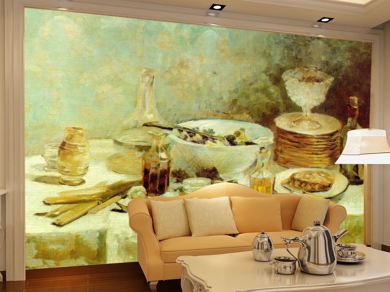 3D Dining Table 447 Wallpaper Murals Wall Print Wallpaper Mural AJ WALL UK Carly