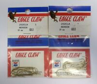 Eagle Claw Classic Aberdeen Hooks Gold Size 1 202ela 2 Pack 3ff