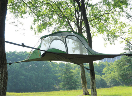 Hanging Tree House Tent Quadrangle Suspension Double Layer Hammock Camping