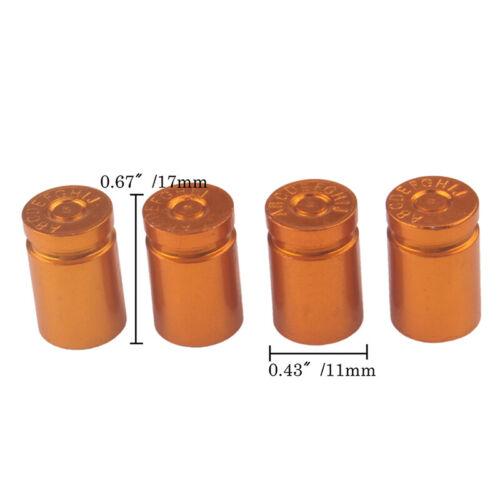 Set of 4 Aluminum Bullet Car Truck Air Port Cover Tire Rim Valve Wheel Stem Caps