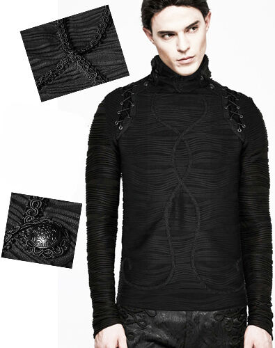 Militaire Gothique Pull Sweat Punkrave Relief Homme Outlet Broderies Baroque pAIEZZwa