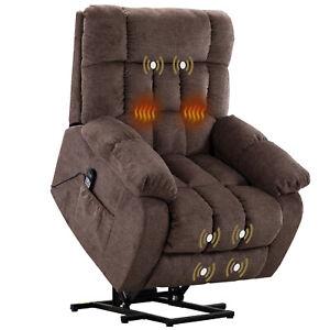 Overstuffed-Electric-Power-Lift-Recliner-10-Modes-Massage-Chair-W-Heat-Vibration