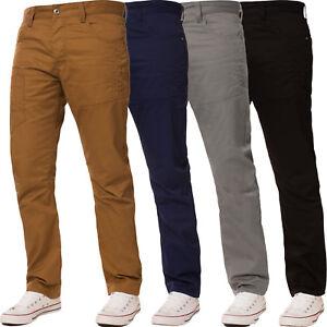 ENZO-Jeans-para-Hombre-de-Disenador-Corte-Recto-Pantalones-Regular-Pierna-Denim-todos-los-tamanos-de