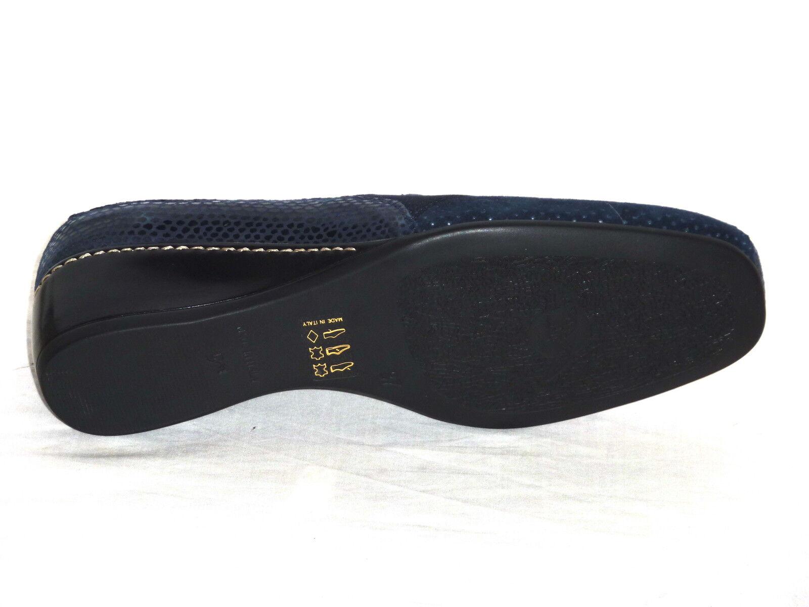 Schuhe Damens ELEGANTI MORBIDE CONFORT PELLE NABUK n. TRAFORATE BLU n. NABUK 37 278543
