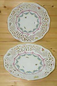 "Oscar De La Renta Antoinette (2) Pierced Plates, 10 1/2"""