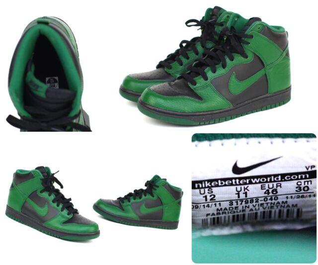 official photos 6bd6b 62546 Nike Dunk High 2011 Men s Sz 12 Green   Black 317982-040 for sale online    eBay