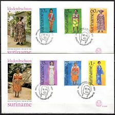 Suriname - 1977 Folklore dresses - Mi. 753-58 clean FDC's
