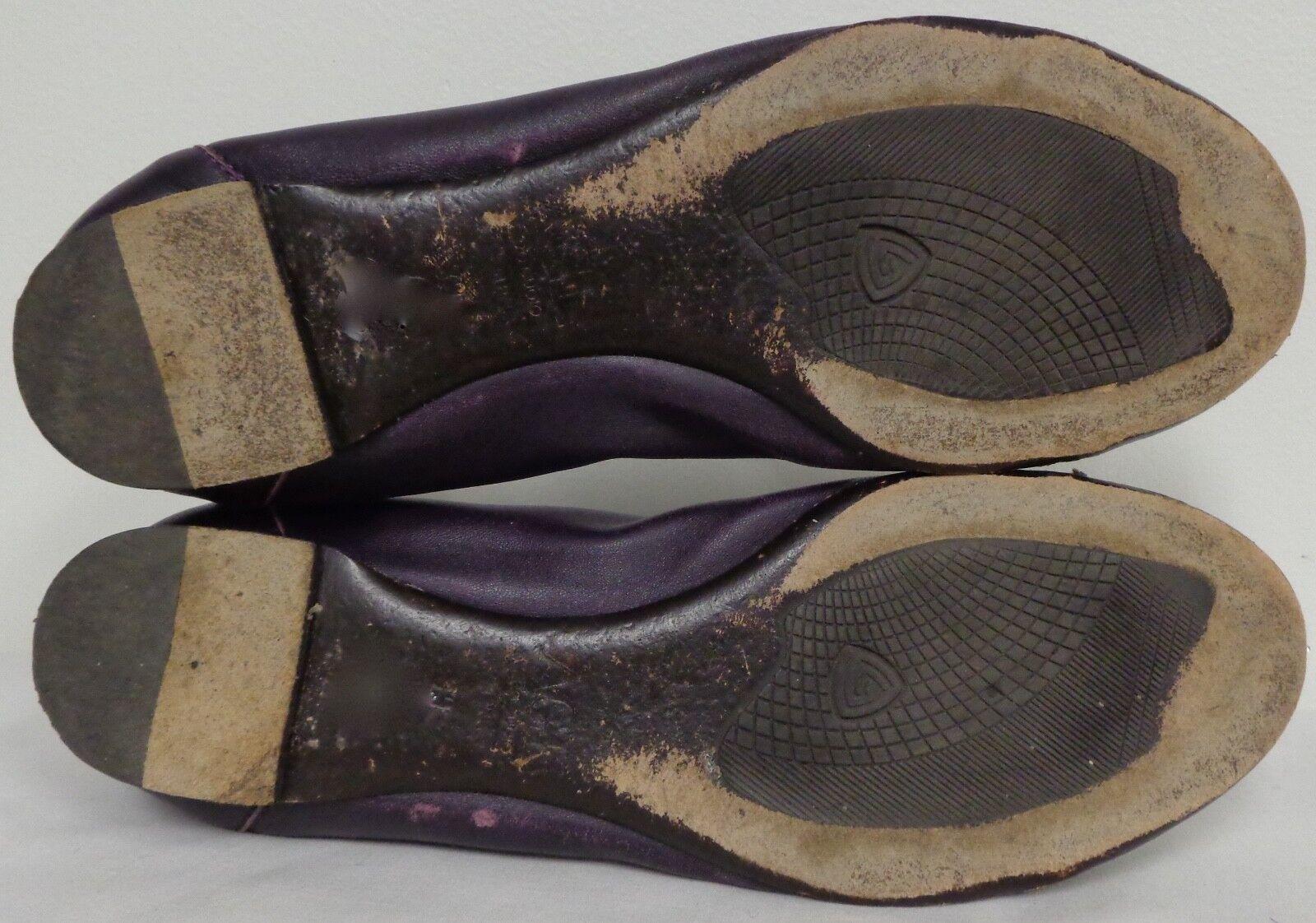 AGL Attilio Giusti Leombruni Puntera De De De Cuero Púrpura de piel de serpiente Ballet Planas 39 196938