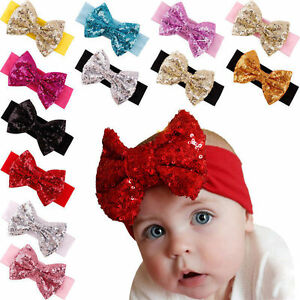 Baby-Infant-Girls-Hair-Band-Sequined-Bow-Headband-Turban-Knot-Hair-Headwear