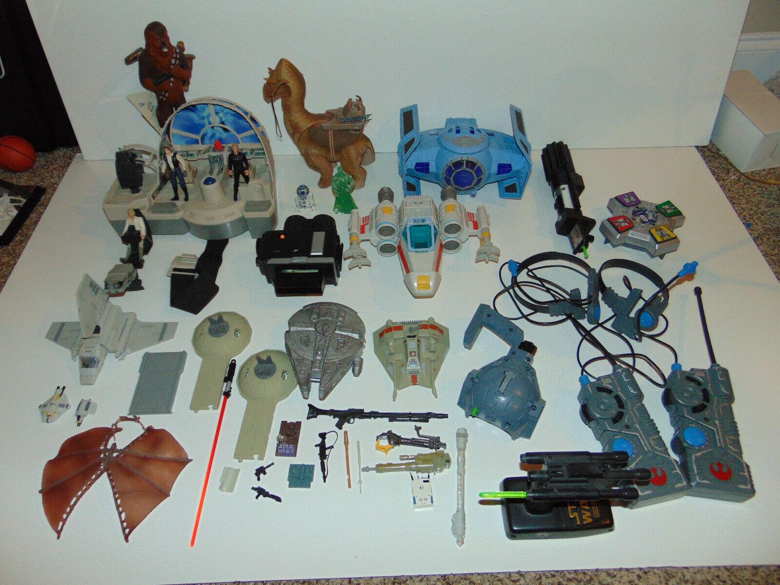 HUGE Star Wars Space Ship Vehicles Figures VINTAGE Set Lot  PERSONAL COLLECTION