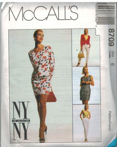 8709 UNCUT McCalls SEWING Pattern Misses Jacket Dress Top Pants Vintage NY NY FF