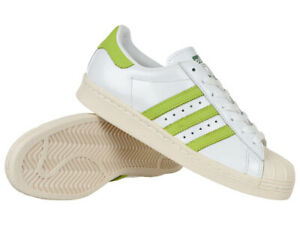 adidas Mens Superstar 80s White Black Letaher Trainers