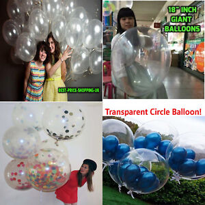 Clear-30-100-Latex-large-ballons-air-Helium-happy-birthday-Party-Balloons-baloon