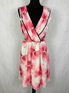 online retailer 50e6e fca28 Dettagli su NEW GUESS LOS ANGELES Abito Vestito Donna da Sera Fiori Woman  Dress Sz.L - 46