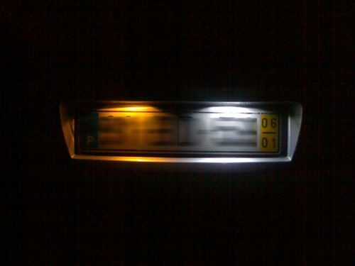 501//w5w 6 DEL DEL Number licence plate for NISSAN NAVARA NOTE d40