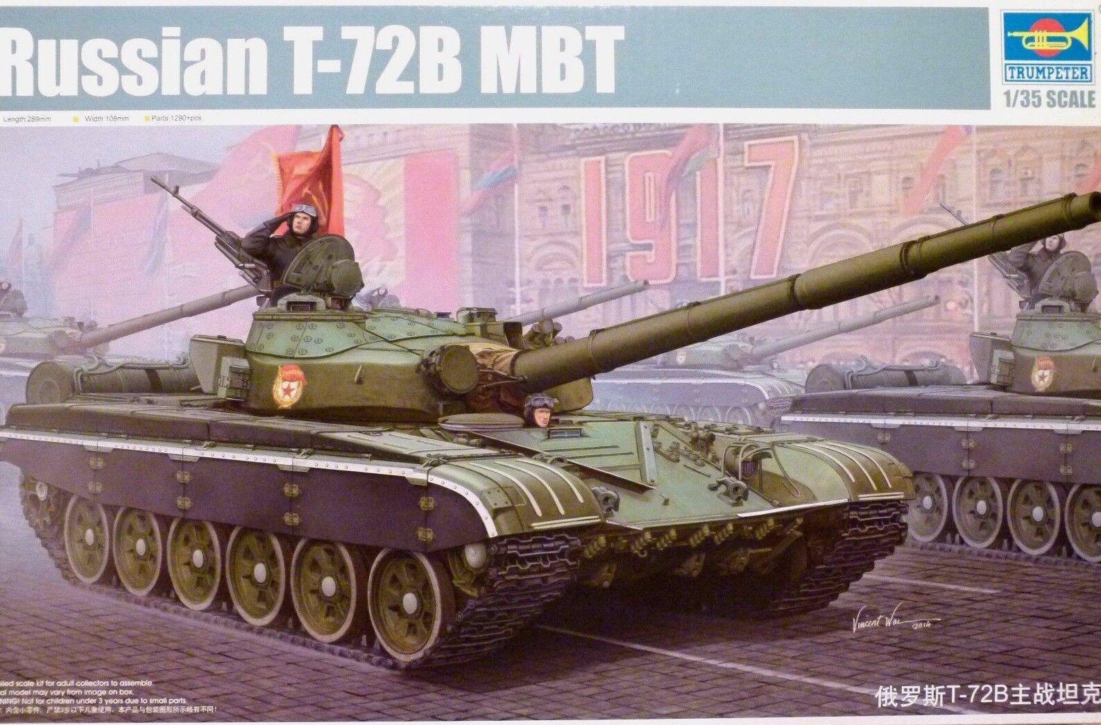 Trumpeter 1 35 T-72B MBT Russian Tank Model Kit