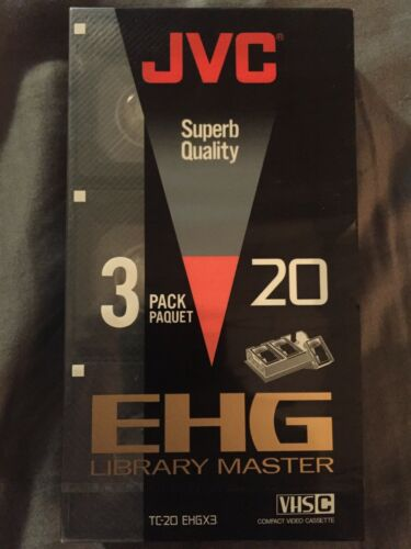 JVC EHG 20 Library Master 3 Pack BRAND NEW STILL SEALED TC-20 EHGX3 VHS-C