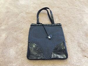 GENUINE-Moschino-Black-with-white-polka-dots-Bag-NEVER-USED-RRP-300