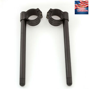 50mm-Clip-On-Fork-Handle-Bar-Handlebar-Clamp-US-For-Suzuki-Honda-Yamaha-Black