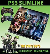 PLAYSTATION PS3 SLIM Pegatina horror montaje villanos mal de la piel y el cojín de piel 2
