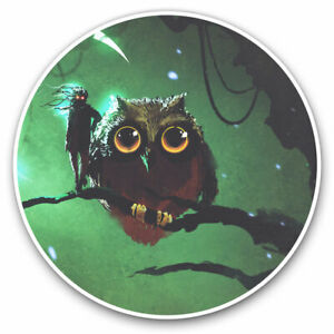 2-x-Vinyl-Stickers-7-5cm-Abstract-Mysterious-Owl-Fantasy-Art-Cool-Gift-14111
