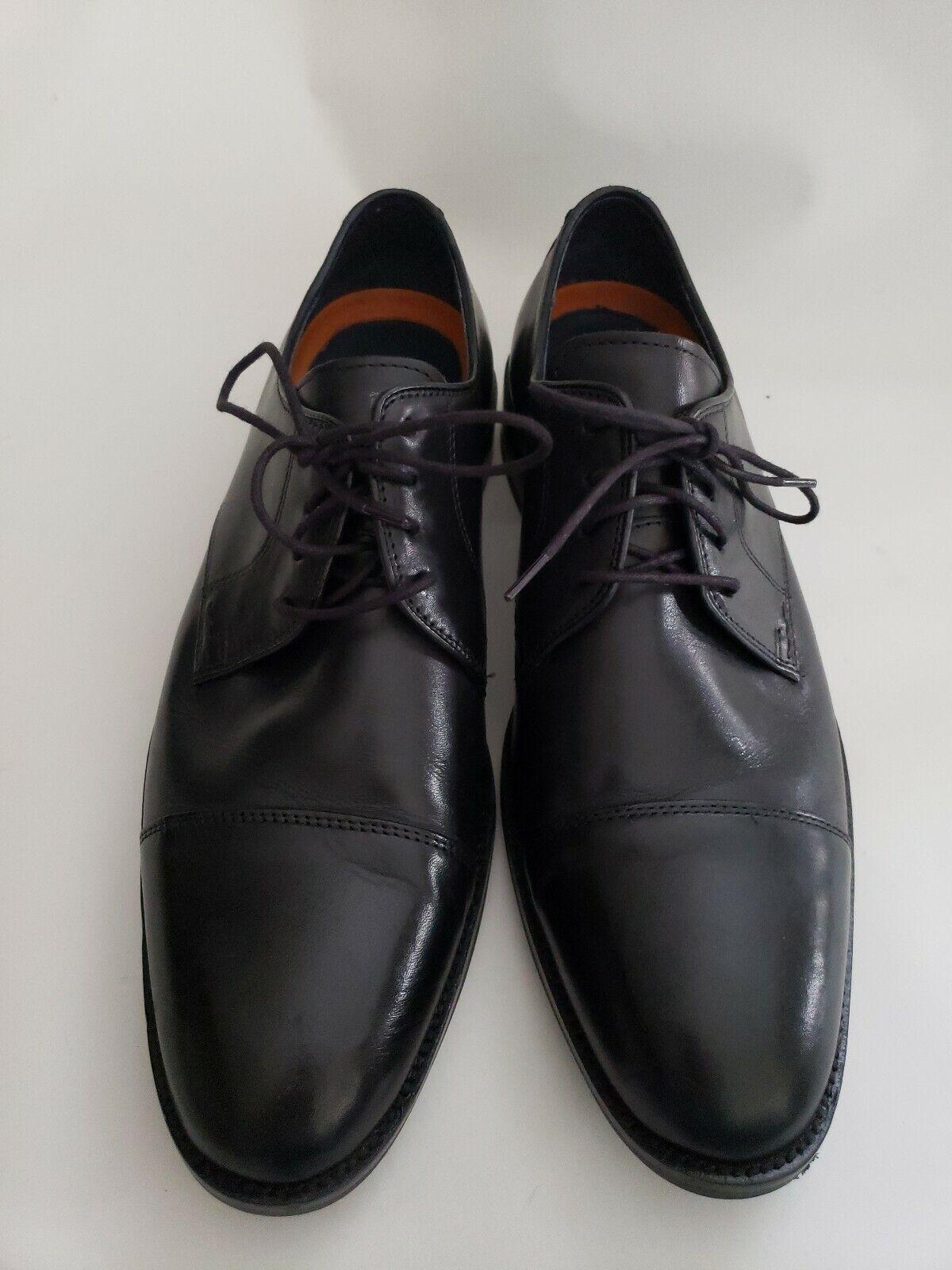 Cole Haan para Hombre de Cuero Negro Puntera Grand. una talla con Cordones De Vestir Zapatos W