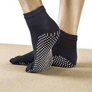 Yoga-Socks-Non-Slip-Pilates-Massage-5-Toe-Socks-with-Grip-6-COLOURS-UK-SELLER