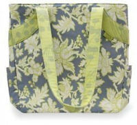 Wtags Amy Butler Scrapbook Tote Lotus Faded China Diaper Bag Computer Carry
