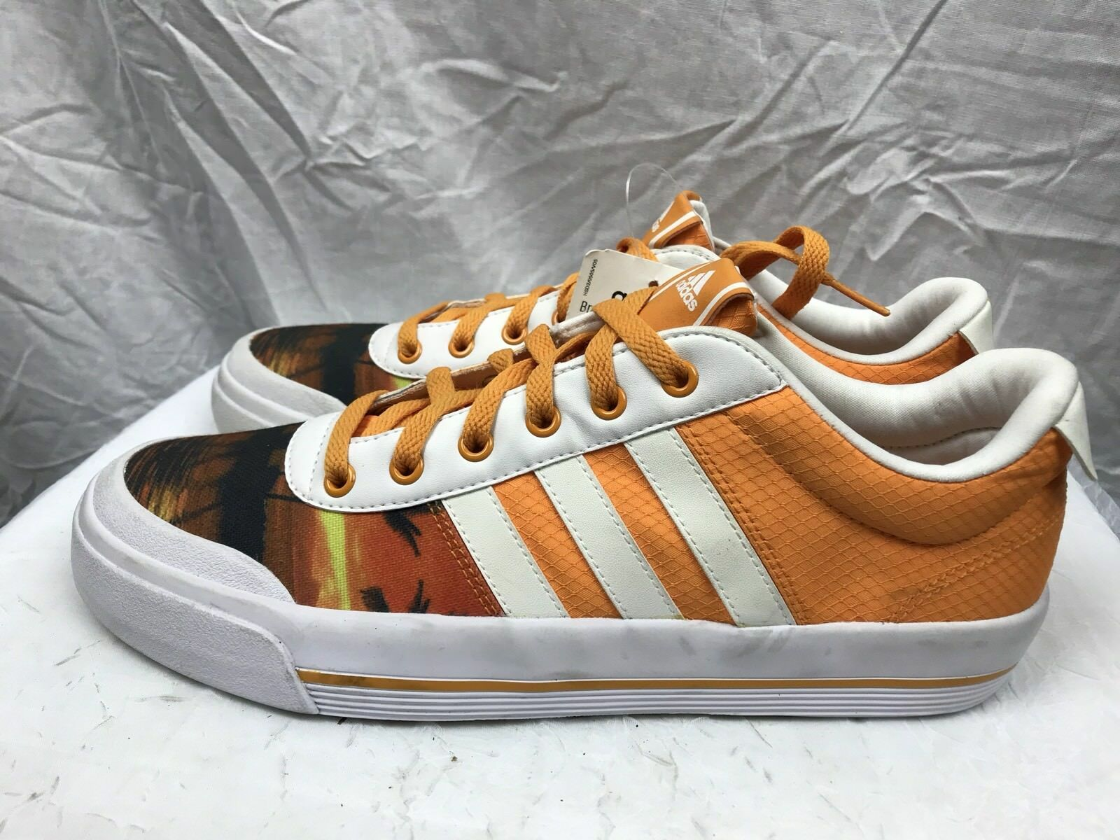"""Adidas Mens 10D Canvas  """"Sunset""""3 Stripe Casual Low-top  Canvas Sneaker Shoes 304940"""
