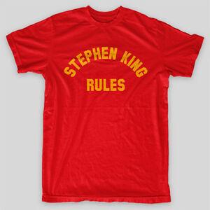 STEPHEN-KING-RULES-Monster-Squad-Stranger-Things-T-Shirt-SIZES-S-5X