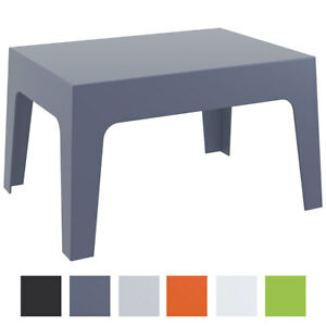 Design Garten Lounge Tisch Box Kunststoff 70 X 50 Cm Stapelbar