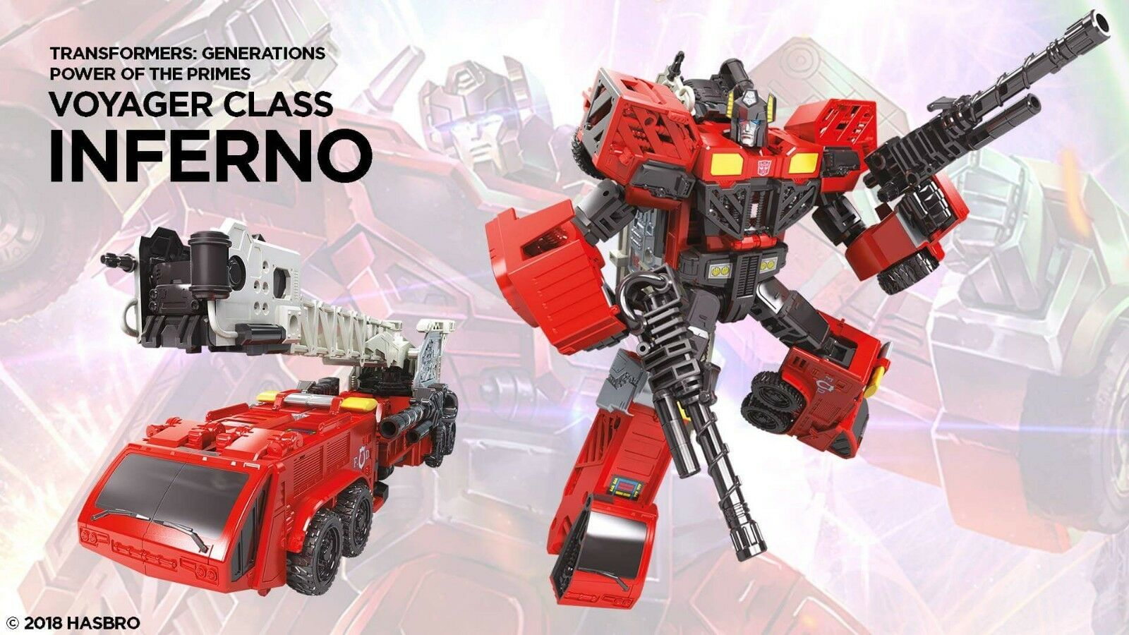 (P) HASBRO TRANSFORMERS Generations power of the primes VOYAGER inferno figure