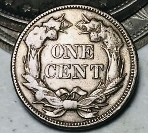1857 Flying Eagle Cent One Penny 1C High Grade Det Civil War Good US Coin CC5536