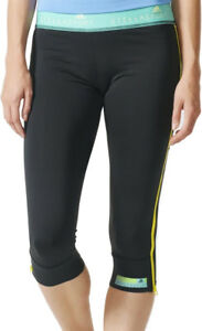 Mallas 4 3 Stella Negro Adidas para mujer correr para Sport Capri rwSqPrO