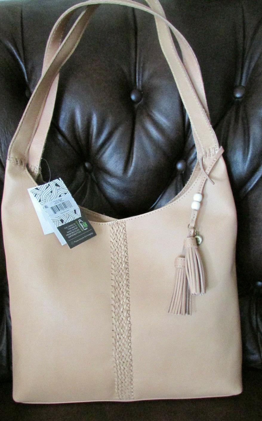 The Sak Vachetta LEATHER Veg Tan Huntley Hobo Shoulder bag in Natural NWT
