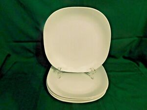 I2-Corning-Ware-Tableware-Casual-China-Just-White-Dinner-Plates-Lot-of-4