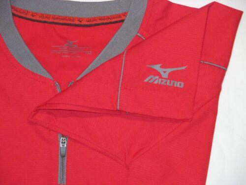 Youth M L MIZUNO Performance BASEBALL WARM-UP SHIRT RED Jersey Uniform Boys Top