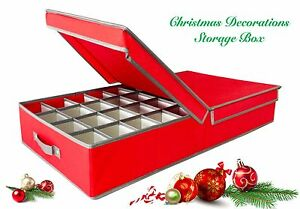 Image Is Loading Christmas Decorations Ornament Storage Box Xmas Tree Bag