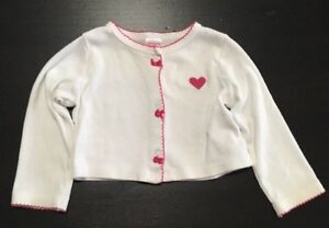 f19068866 Carters Baby Girl Sweater Cardigan White 9 Months 190795820331