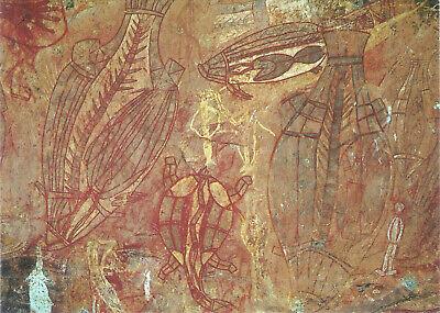 dem heiligen Berg der Aborigines Blitze am Uluru Ansichtskarte aus Australien