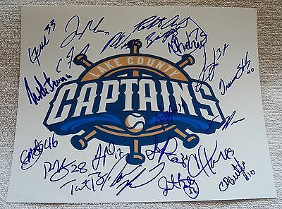 2014 Lake County Captains Signed Team Photo Clint Frazier Cleveland Indians Auto
