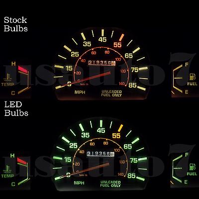 WLJH High Bright Blue 12V Instrument Panel Cluster Gauge Speedometer Cluster Full LED Light Bulbs Kits for 1986-1989 Toyota Celica,Pack of 19