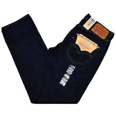Levis 501 Jeans Mens Button Fly Stonewashed Levi's Jean 29 30 31 32 33 34 36 38