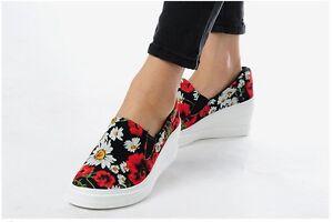 MAX-Ladies-Women-Wedges-Shoes-Sneakers-Heels-Casual-Platforms-Walking-Slip-on