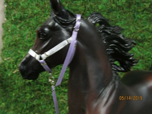 Jaapi MARZIPAN LILAC halter w//chain lead-fit Breyer traditional MODEL horses