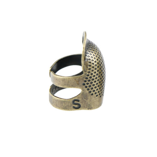 1X Metall Messing Nähen Fingerhut Nadeln Fingerschutz DIY Hilfreich Nähen toolWR