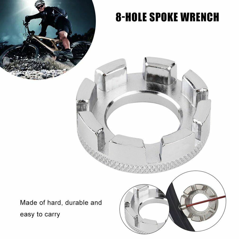 Steel 6 Way Spoke Nipple Key Spanner Tool Bicycle Cycle Bike Wrench Tool