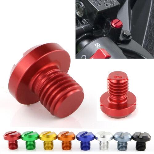 CNC Mirror Hole Blanking Plugs For Ducati Hypermotard 821 Hypermotard 939 SP Red