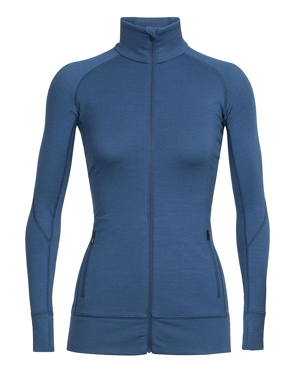 Icebreaker Fluid Zone Long Sleeve  Zip Ladies - 260 G M ² - Merino Wool  buy cheap new