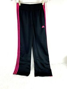 Details about Adidas Track Pants size XS Womens Basketball Athleisure Three Stripe Black Pink
